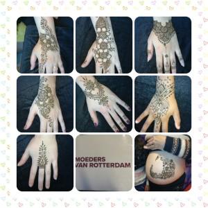collage henna